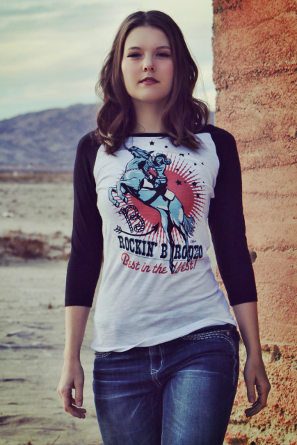 Original Cowgirl Clothing Western Trick Riding Rider Tee Shirt Rodeo