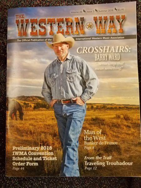 Barry Ward on the Cover of Western Way Magazine