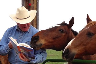Author Craig Johnson with his Horses