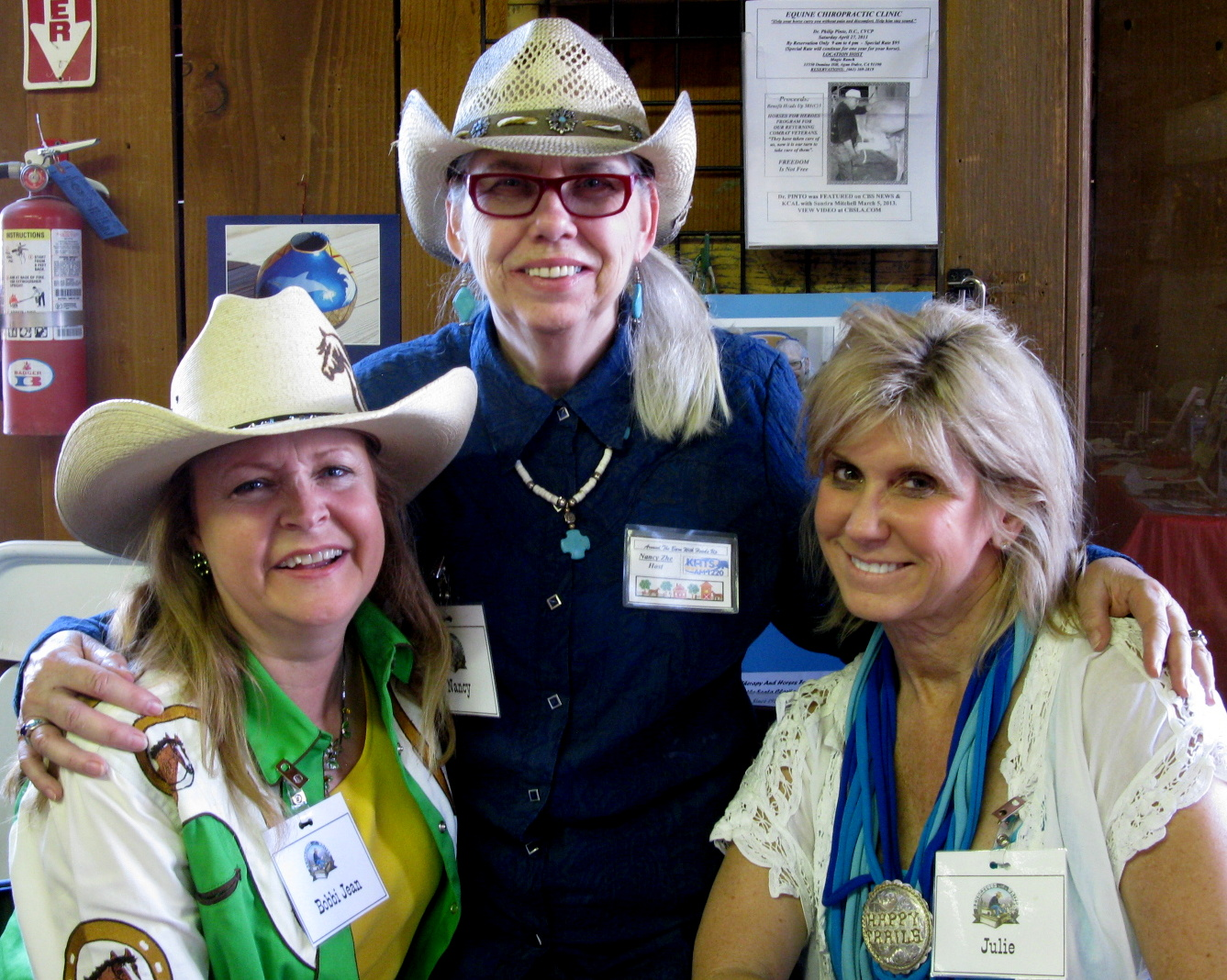 KHTS Radio Around the Barn Hosts Nancy Zhee, Bobbi Jean Bell, Julie Fox Pomilia