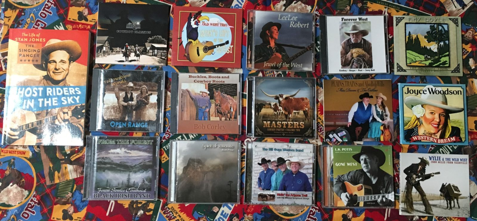 OutWest Hour Radio Show Playlist CD Covers June 1, 2019