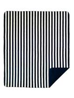 Denali® Your Home Collection: Nautical Lapis and Cream Stripes Reverse Lapis Throw