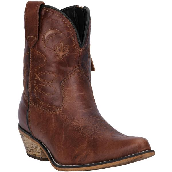 Ladies' Dan Post Boots Dingo: Fashion Shortie Adobe Rose Brown