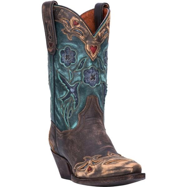Ladies' Dan Post Boots Western Fashion: Vintage Blue Bird Teal