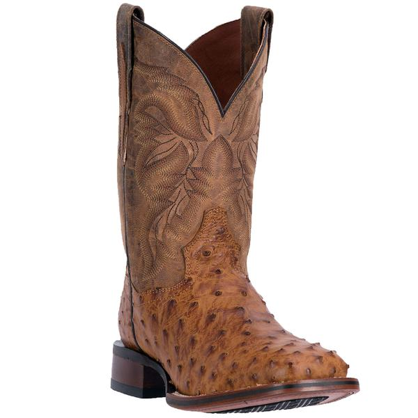 Men's Dan Post Boots Cowboy Certified Exotic: Ostrich Alamosa Saddle Tan