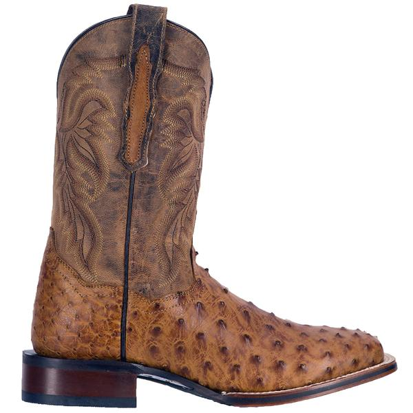 d8965f741bf Men's Dan Post Boots Cowboy Certified Exotic: Ostrich Alamosa Saddle Tan