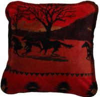 Denali® Western Collection: Red Running Horses Pillow