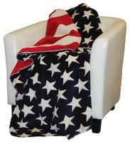 Denali® Home Collection Americana: Stars & Stripes Throw Blanket Reverses to Stars
