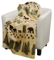 Denali® Rustic Collection: Denali Bear Pearl Reverse Sage Throw Blanket