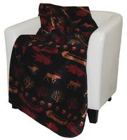 Denali® Rustic Collection: Black Denali Lake Reverse Merlot Throw Blanket