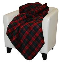 Denali® Rustic Collection: Plaid Buffalo Check Spruce Red Reverse Spruce Throw Blanket
