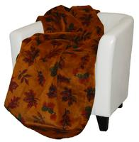 Denali® Your Home Collection: Falling Leaves Reverse Pine Throw Blanket