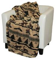 Denali® Rustic Collection: Deer Haven Reverse Taupe Throw Blanket