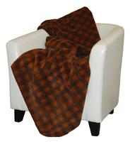 Denali® Rustic Collection: Plaid Buffalo Check Gold Taupe Reverse Taupe Throw Blanket