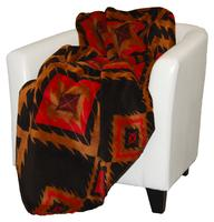 Denali® Western Collection: Red Diamonds Reverse Chocolate Throw Blanket
