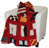 Denali® Your Home Collection: Nautical Flags Reverse Lapis Throw Blanket