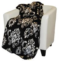 Denali® Your Home Collection: Black Medallion Reverse Black Throw Blanket
