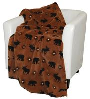 Denali® Rustic Collection: Wilderness Walk Reverse Chocolate Throw Blanket