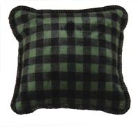 Denali® Rustic Collection: Plaid Buffalo Check Thyme Chocolate Pillow