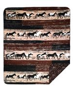Denali® Western Collection: Horses Reverse Paisley Throw Blanket
