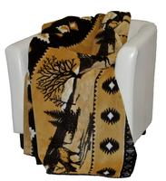 Denali® Rustic Collection: Elk Reverse Chocolate Throw Blanket