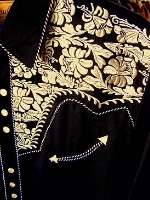 Scully Men's Vintage Western Shirt: The Gunfighter Black & Gold Back Ordered
