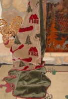 Denali® Rustic Collection: Moose Camp Reverse Sage Throw Blanket