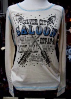 Panhandle Slim T-Shirt: Silver City Saloon L-XL SOLD