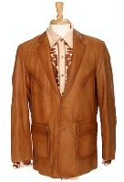 Scully Men's Leather Blazer: Whip Stitch Ranch Tan