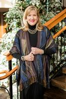 Rhonda Stark Designs Italian Acrylic Collection: Shawl Wave Midnight, Fringe