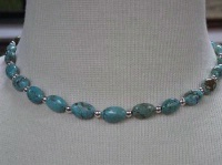 ZSold Laura Ingalls Designs: Necklace Turquoise Robins Egg Blue SOLD