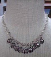 ZSold Laura Ingalls Designs: Necklace Silver O'Lay Chain and Concho SOLD