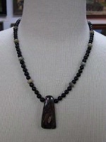 A Laura Ingalls Designs: Necklace Boulder Opal, Picture Jasper, Black Onyx Special Order