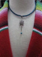 A Laura Ingalls Designs: Necklace Braided Leather w Turtle