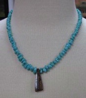 ZSold Laura Ingalls Designs: Necklace Boulder Opal w Graduated Turquoise SOLD