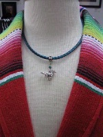 ZSold Laura Ingalls Designs: Necklace Braided Leather Mustang SOLD