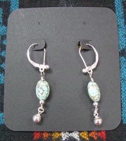 ZSold Laura Ingalls Designs: Earrings Wires Turquoise Robin's Egg Blue SOLD
