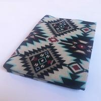 A Rockmount Ranch Wear Blanket: Native American Design Black and White