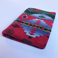A Rockmount Ranch Wear Blanket: Native American Design Red Green Blue