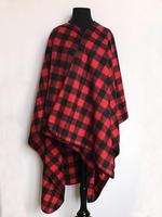 Rockmount Ranch Wear Accessory: Poly Fleece Poncho Buffalo Check Red Check