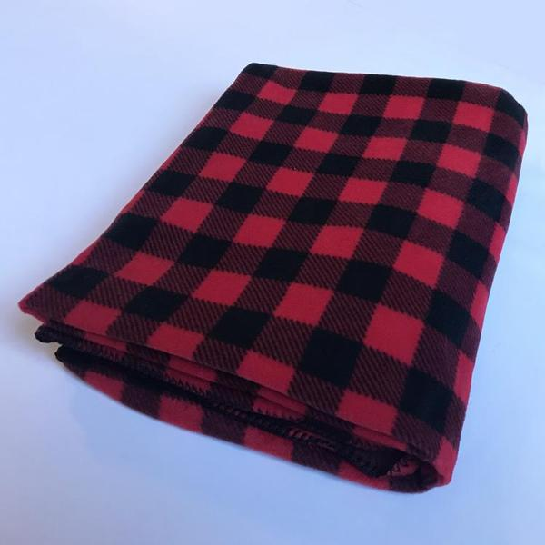 A Rockmount Ranch Wear Blanket: Americana Classic Buffalo Check Red