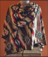 Rockmount Ranch Wear Accessory: Poly Fleece Poncho Brown Red