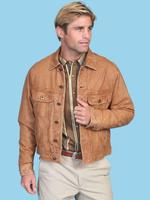 ZSold Scully Men's Leather Jacket: Casual Denim Style Leather Tan 3X-4X SOLD