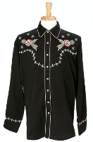 Scully Men's Vintage Western Shirt: Blooms & Bones S-2X Big/Tall 3X-4X