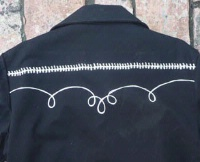 Rockmount Ranch Wear Men's Vintage Western Jacket: Gabardine Embroidered Bolero Black