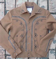 ZSold Rockmount Ranch Wear Men's Vintage Western Jacket: Gabardine Embroidered Cocoa S-2X SOLD