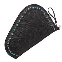 American West Handbag Collection: Leather Gun Case Black