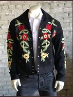 Rockmount Ranch Wear Men's Vintage Western Jacket: Gabardine Embroidered Bolero Roses Backordered