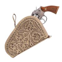 American West Handbag Collection: Leather Gun Case Sand