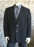 A Rockmount Ranch Wear Men's Western Blazer: Black